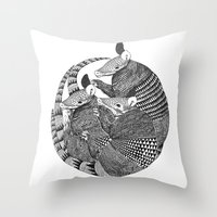 armadillos  Throw Pillow