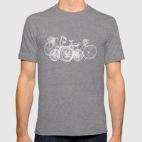 3bikes Mens Fitted Tee Tri-Grey SMALL