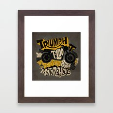 Triumph Framed Art Print