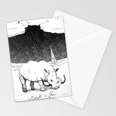 Rhino during Midnight in Paris Stationery Cards