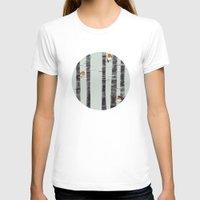 patterns T-shirts featuring Robin Trees by Sandra Dieckmann