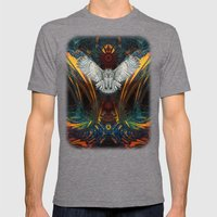 The Great Grey Owl Mens Fitted Tee Tri-Grey SMALL