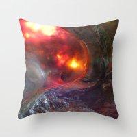 Flaming Seashell 5 Throw Pillow