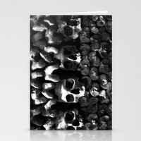 Skulls - Paris Catacombs, black and white version Stationery Cards