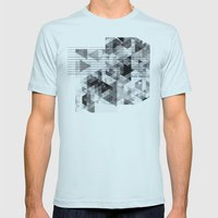 Marble madness Mens Fitted Tee Light Blue SMALL