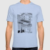 Nagasaki - China Town Mens Fitted Tee Athletic Blue SMALL