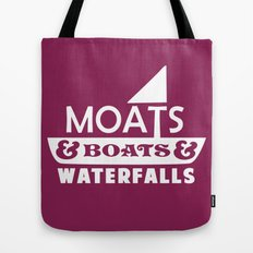 Moats and Boats and Waterfalls Graphic Tote Bag