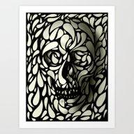 Art Print featuring Skull by Ali GULEC