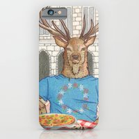 iPhone & iPod Case featuring Everyday Animals - Mr Stag eats his lunch by Aiko Tagawa