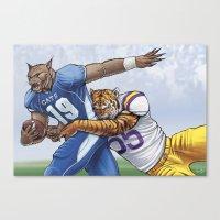 Wildcats Versus Tigers Canvas Print