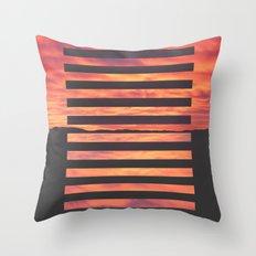 Black Strips Throw Pillow
