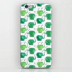 thousands of little green elephants iPhone & iPod Skin