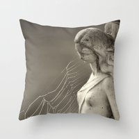 Caught In A Trap Throw Pillow