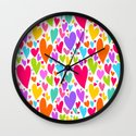 Cute colorful heart Wall Clock
