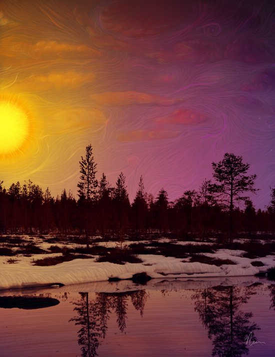 Day - From Day And Night Painting Art Print
