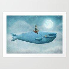 Whale Rider  Art Print