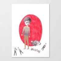Little upset boy Canvas Print