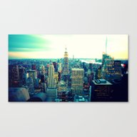 Canvas Print featuring New York City by 2sweet4words Designs