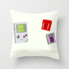 Gameboy & Games Throw Pillow