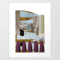outside upside Art Print