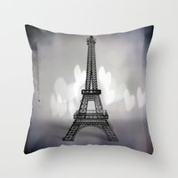La Ville De L'amour Throw Pillow
