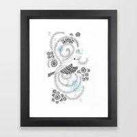Blue King 3 Framed Art Print