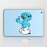 Laptop & iPad Skin featuring Tobias Smurf by Castlepöp