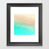 GOLD AQUA Framed Art Print