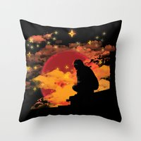 NINJA NIGHT SHOWDOWN Throw Pillow
