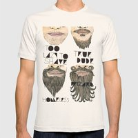 the beard chart of dudeliness Mens Fitted Tee Natural SMALL