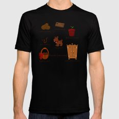 Colors: brown (Los colores: marrón) Mens Fitted Tee Black SMALL