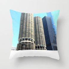 Marina City Throw Pillow