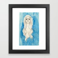 Long Hair Framed Art Print