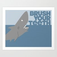Kids' Bathroom - Brush Your Teeth Art Print