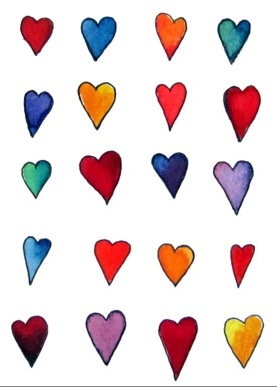Multiple HEARTS Art Print