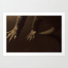 Alligator Claws Art Print