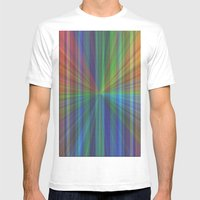 Colourful Rays Mens Fitted Tee White SMALL