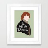 Jamie Fraser Quote Framed Art Print