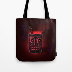 Tiki Black Tote Bag