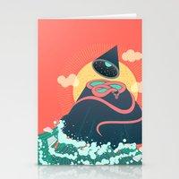 Snake On Crystal Mountain Stationery Cards