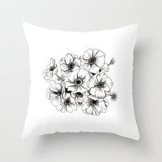 Anemones Bouquet Throw Pillow