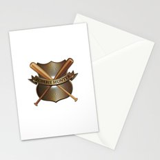Zombie hunter shield Stationery Cards