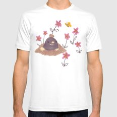 Hello Mole! White Mens Fitted Tee SMALL