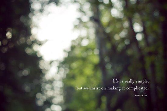 confucius say: life is simple Art Print