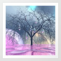 the tree, that weeps Art Print