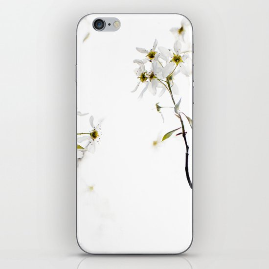 blossoming white iPhone & iPod Skin