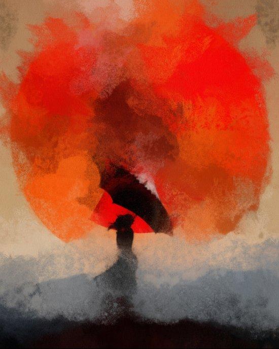 umbrellaliensunshine: atomicherry winter! Art Print