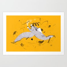 A Busy Morning Art Print