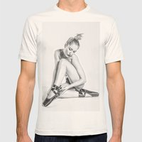 Danseuse Mens Fitted Tee Natural SMALL