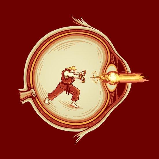 Optic Blast Art Print